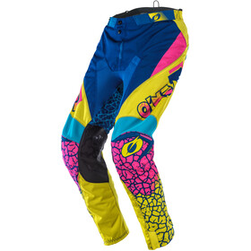 O'Neal Mayhem Lite Pantalon Homme, crackle 91-yellow/white/blue